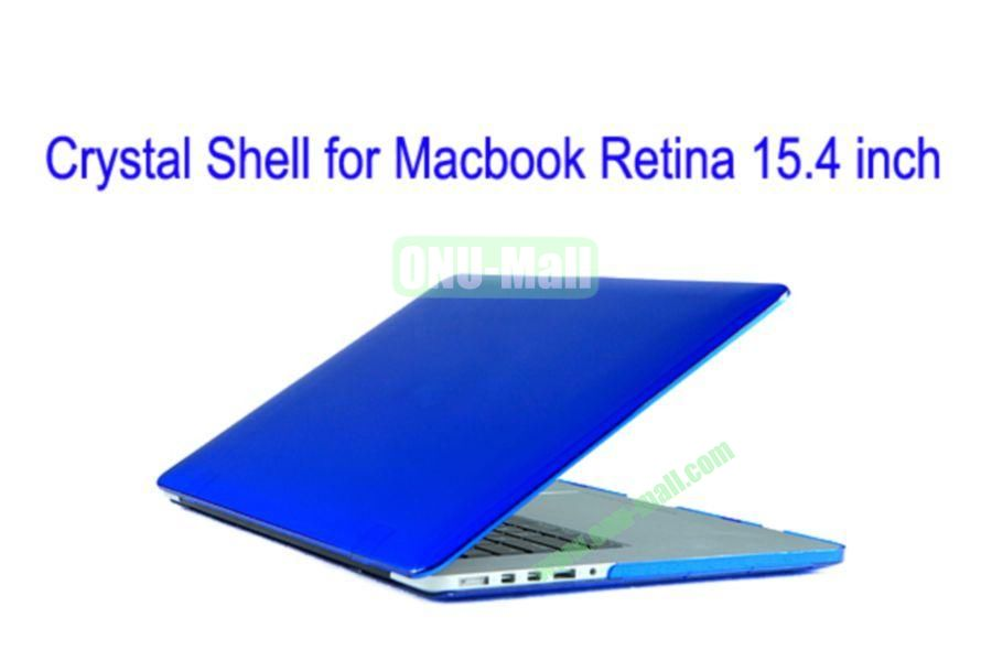 New Arrival Crystal Hard Shell Rubberized Case for Apple Macbook 15.4 inch Retina(Drak Blue)