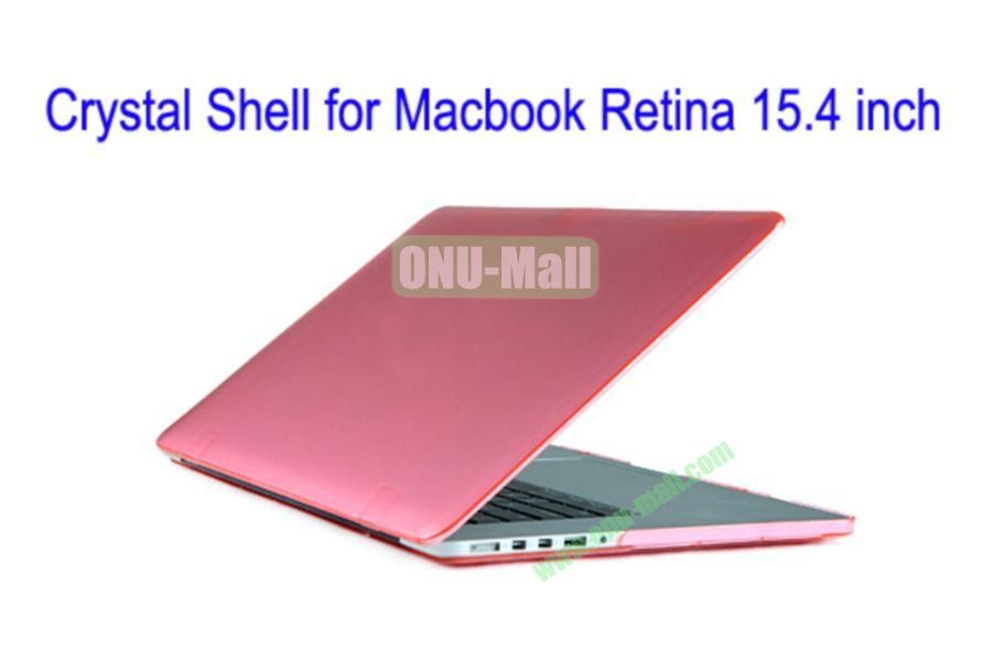 New Arrival Crystal Hard Shell Rubberized Case for Apple Macbook 15.4 inch Retina(Pink)