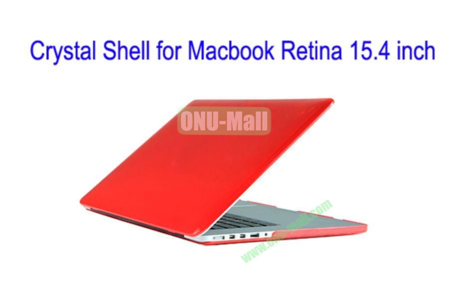 New Arrival Crystal Hard Shell Rubberized Case for Apple Macbook 15.4 inch Retina(Red)
