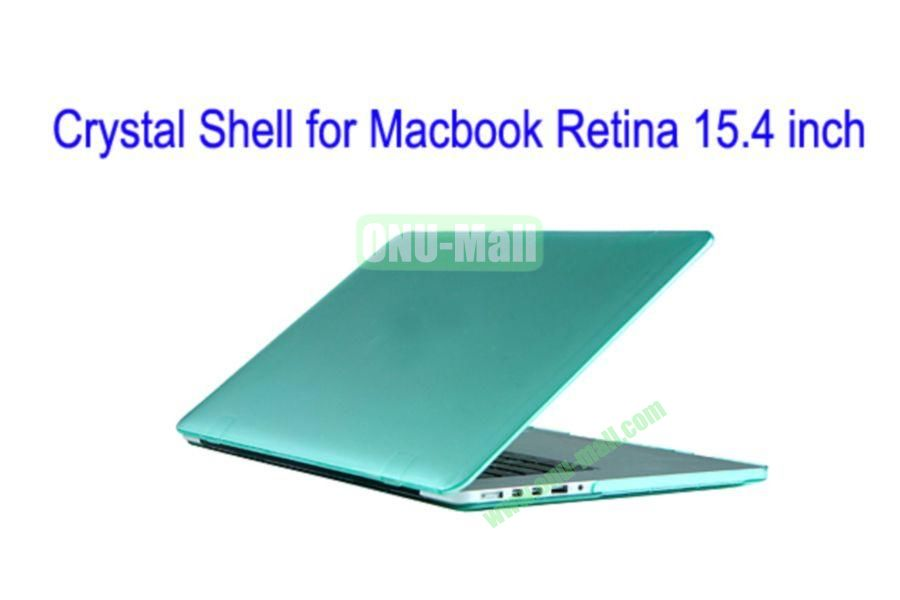 New Arrival Crystal Hard Shell Rubberized Case for Apple Macbook 15.4 inch Retina(Light Green)
