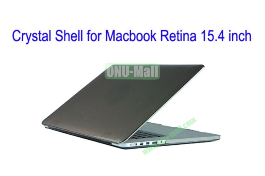 New Arrival Crystal Hard Shell Rubberized Case for Apple Macbook 15.4 inch Retina(Grey)