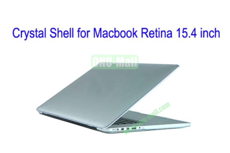 New Arrival Crystal Hard Shell Rubberized Case for Apple Macbook 15.4 inch Retina(Transparent)