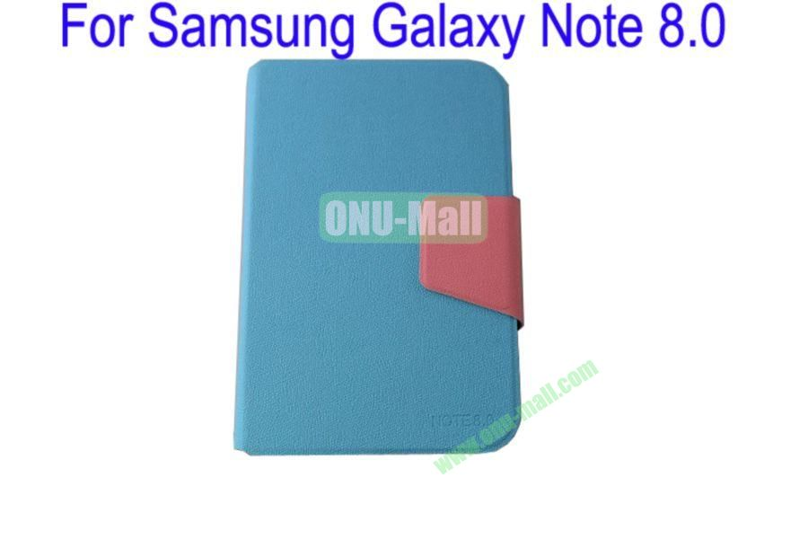 High Quality Litchi Lines Mix Color Leather Case Cover for Samsung Galaxy Note 8.0N5100 With Card Slot(Blue)