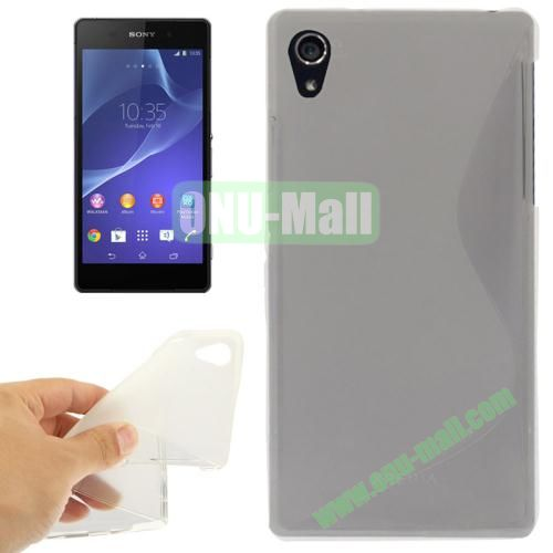 Anti-skid S Shaped TPU Case for Sony Xperia Z2  L50w  (Transparent)