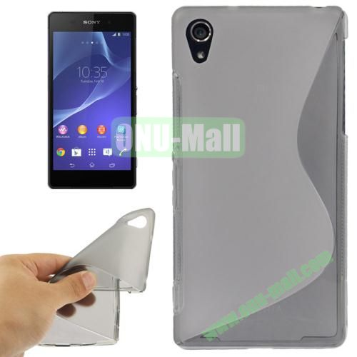 Anti-skid S Shaped TPU Case for Sony Xperia Z2  L50w  (Grey)