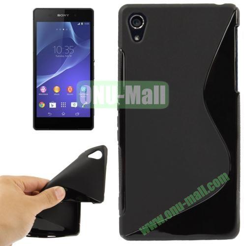 Anti-skid S Shaped TPU Case for Sony Xperia Z2  L50w  (Black)