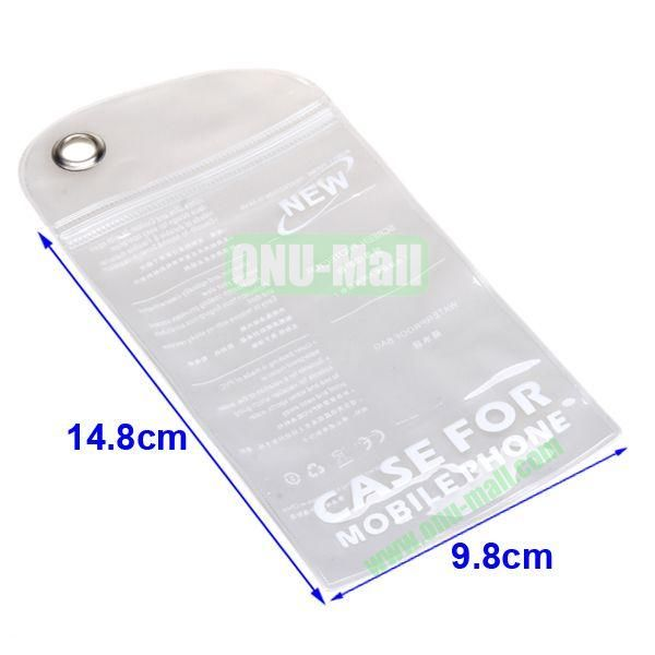 Size:14.8*9.8cm, High Quality Case Packing Waterproof Bag for Smart Phone, iPhone, iPod, and other Smart Phones.Also Can be Used as the Bag for Phone's Shell (Transparent)