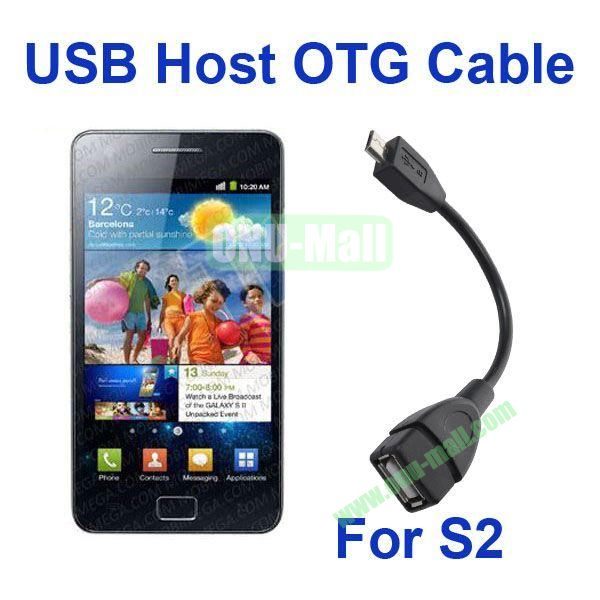 High quality USB Host OTG Cable Micro USB to Female USB for Galaxy S2 i9100