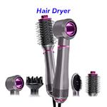 5 In 1 Rotating Hair Staightener Styler One Step Hair Volumizer Hair Dryer Brush