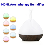 CE RoHS FCC 400ML Wood Grain Smart WiFi Diffuser Ultrasonic Aromatherapy Humidifier (Color 2)