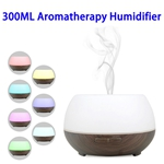 CE RoHS FCC 300 ML Wood Grain Smart WiFi Diffuser Ultrasonic Aroma Humidifier (Color 2)