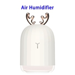 Delicate Designed Cute Portable Air Moisturizing Mist Humidifier for Home and Office(White)