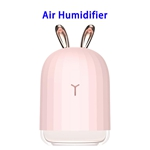 Delicate Designed Cute Portable Air Moisturizing Mist Humidifier for Home and Office(Pink)