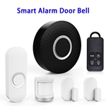 Wireless Smart Home Security Alarm System Compatible with Alexa (Black)