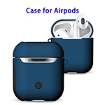 New Trending 2 in 1 TPU+PC Case for AirPods Headphone (Blue)