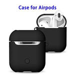 New Trending 2 in 1 TPU+PC Case for AirPods Headphone (Black)