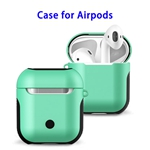 New Trending 2 in 1 TPU+PC Case for AirPods Headphone (Green)