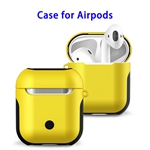 New Trending 2 in 1 TPU+PC Case for AirPods Headphone (Yellow)
