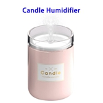 New Arrival Delicate Stylish 280ML Candlestick USB Air Humidifier (Pink)