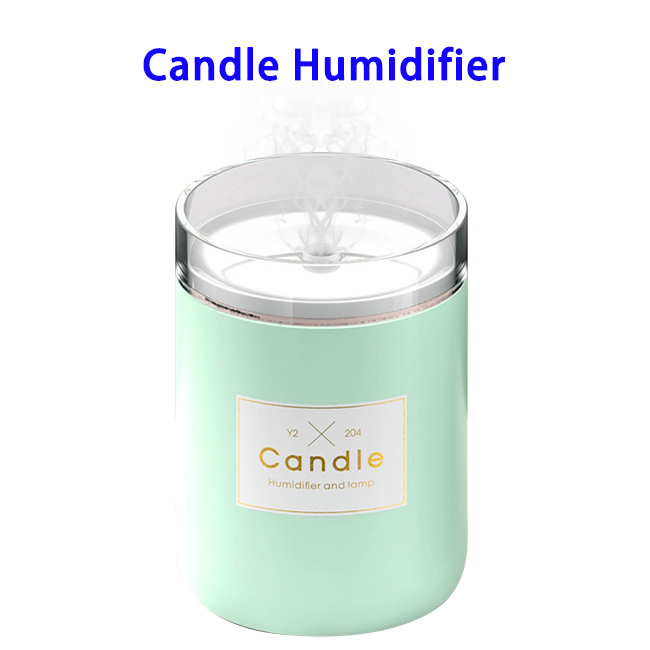 New Arrival Delicate Stylish 280ML Candlestick USB Air Humidifier (Green)