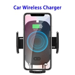New Designed QI Car Mount Adjustable Intrared Sensor Wireless Phone Holder Charger