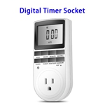 Appliance Timer with Outlet Digital Light Timer Plug-in Timer for Electrical Outlet (US Plug)