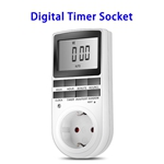 Appliance Timer with Outlet Digital Light Timer Plug-in Timer for Electrical Outlet (EU Plug)