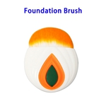 Patented Item Synthetic Hair Electroplated Handle Foundation Brush