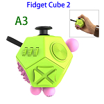 12 Sides Anti-anxiety and Depression Fidget Cube Toys 2 for Adults (A3)