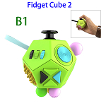 12 Sides Anti-anxiety and Depression Fidget Cube Toys 2 for Adults (B1)
