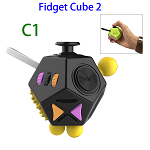 12 Sides Anti-anxiety and Depression Fidget Cube Toys 2 for Adults (C1)