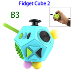 12 Sides Anti-anxiety and Depression Fidget Cube Toys 2 for Adults (B3)