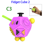 12 Sides Anti-anxiety and Depression Fidget Cube Toys 2 for Adults (C3)