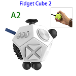 12 Sides Anti-anxiety and Depression Fidget Cube Toys 2 for Adults (A2)