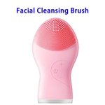 Brand New Design Waterproof Silicone Skin Caring Deep Cleaning Facial Cleaning Brush(Pink)