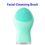 Brand New Design Waterproof Silicone Skin Caring Deep Cleaning Facial Cleaning Brush(Green)