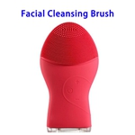 Brand New Design Waterproof Silicone Skin Caring Deep Cleaning Facial Cleaning Brush(Rosy)