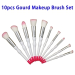 Hot Selling Beauty Needs 10pcs Synthetic Hair Gourd Makeup Brush Set (Color 1)