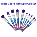Hot Selling Beauty Needs 10pcs Synthetic Hair Gourd Makeup Brush Set (Color 2)