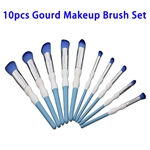 Hot Selling Beauty Needs 10pcs Synthetic Hair Gourd Makeup Brush Set (Color 4)
