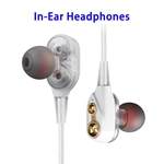 High Performance Prefessional Double Moving Coil In-ear Karaoke Headphones (White)