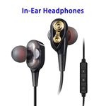 High Performance Prefessional Double Moving Coil In-ear Karaoke Headphones (Black)