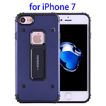 MOTOMO Metal + TPU Combination Protective Cover for iPhone 7(Dark Blue)