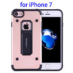 MOTOMO Metal + TPU Combination Protective Cover for iPhone 7(Rose Gold)