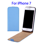 Vertical Flip Leather Case for iPhone 7 (Blue)