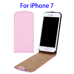 Vertical Flip Leather Case for iPhone 7 (Pink)