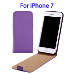Vertical Flip Leather Case for iPhone 7 (Purple)