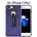 MOTOMO Metal + TPU Combination Protective Back Case for iPhone 7 Plus (Dark Blue)
