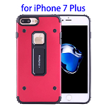 MOTOMO Metal + TPU Combination Protective Back Case for iPhone 7 Plus (Red)