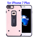 MOTOMO Metal + TPU Combination Protective Back Case for iPhone 7 Plus (Rose Gold)